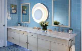 Голубая ванная комната дизайн фото