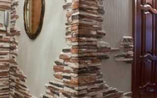 Как клеить декоративные кирпичи