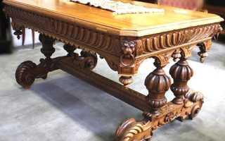 Резные столы из дерева своими руками