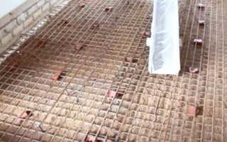 Армирование бетона сеткой