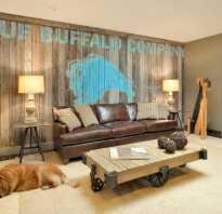 Декор деревянной стены