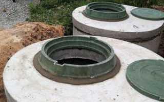 Установка бетонных колец под септик