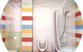 Ванная комната дизайн с туалетом и душем