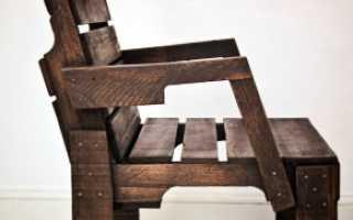Схема кресла из дерева