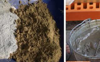 Цементно песчаная смесь расход на 1м2