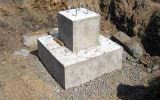 Фундамент столбчатый монолитный железобетонный
