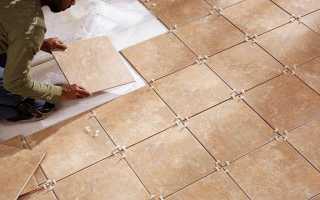 Как положить плитку на бетонный пол