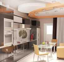Дизайн квадратной кухни с диваном