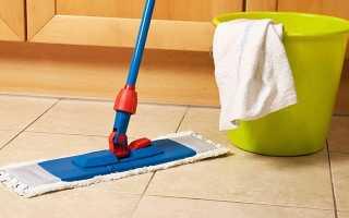 Как отмыть шершавую плитку на полу