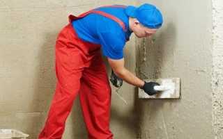 Расход цементной штукатурки на 1 м2 стены