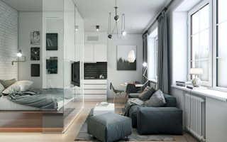 Интерьер зала спальни в квартире