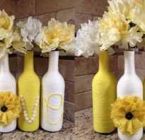 Декор бутылок для кухни
