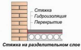 Покрытие цементной стяжки