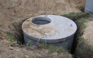 Сливная яма из бетонных колец