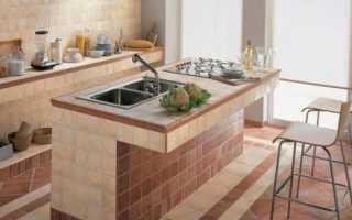 Плитка на кухонной столешнице