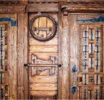 Двери под старину из дерева своими руками