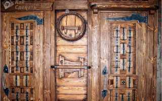 Дверь из дерева под старину своими руками