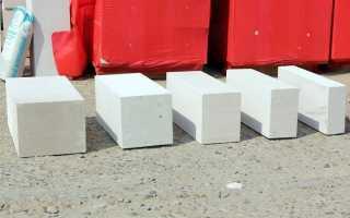 Толщина газобетонного блока для дома