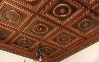 Декоративная плитка на потолок