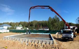 Устройство бетонной плиты