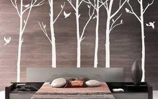 Декор дерева на стене своими руками