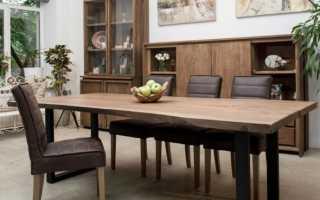 Обеденный стол из массива дерева своими руками