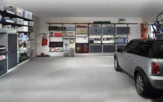 Как сделать полки в гараже из дерева