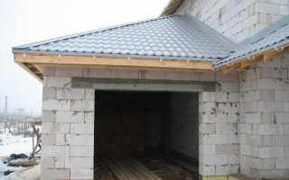 Крыша гаража из дерева