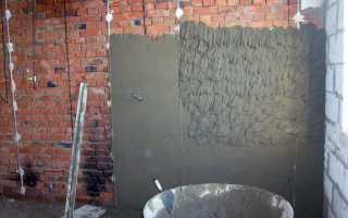 Штукатурка стен по бетону