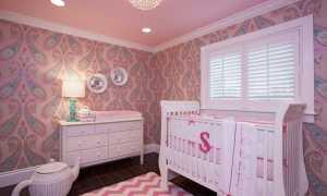 Розовые обои на стены