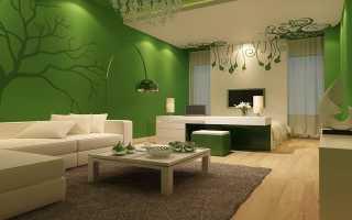 Цвета подходящие к зеленому в интерьере