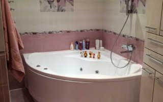 Ванная комната дизайн фото угловая ванна