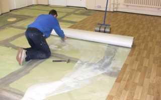 Как подготовить бетонный пол под линолеум