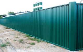 Материал на забор из профнастила
