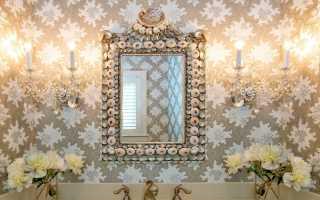 Ванная комната дизайн с обоями