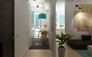 Скандинавский стиль в интерьере однокомнатной квартиры