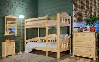 Фото двухъярусных кроватей для детей из дерева