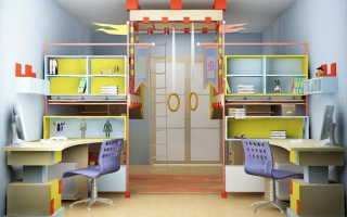 Дизайн детской для двоих в хрущевке