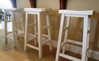 Сделать барный стул из дерева своими руками