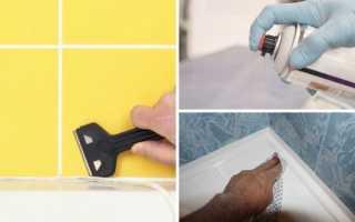 Чем смыть силиконовый герметик с плитки