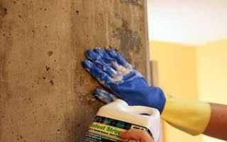 Покраска стен по бетону