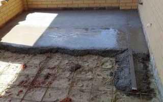 Расчет стяжки бетонных полов