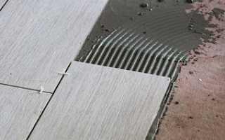 Кладка керамогранитной плитки