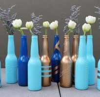 Декор бутылки дом