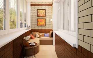 Отделка балкона декоративным кирпичом