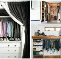 Узкая гардеробная дизайн