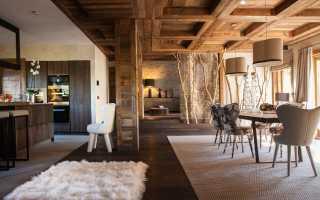 Интерьеры домов в стиле шале