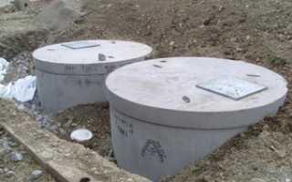 Схема канализации из бетонных колец