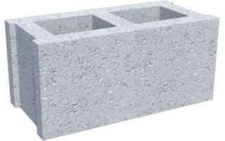 Размеры бетонного блока для стен