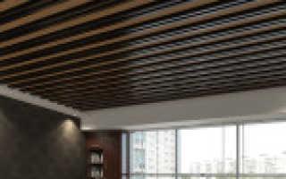 Обрешетка потолка из дерева